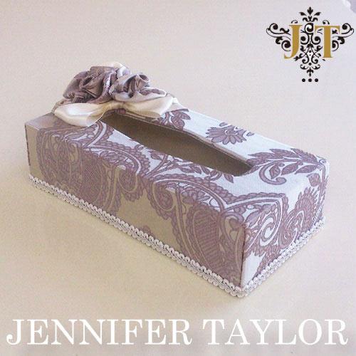 【ポイント5倍 5月】ジェニファーテイラー Jennifer Taylor ティッシュBOX・Hermosa-lavender
