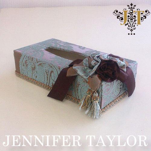 【ポイント5倍 5月】ジェニファーテイラー Jennifer Taylor ティッシュBOX・Hermosa-mint
