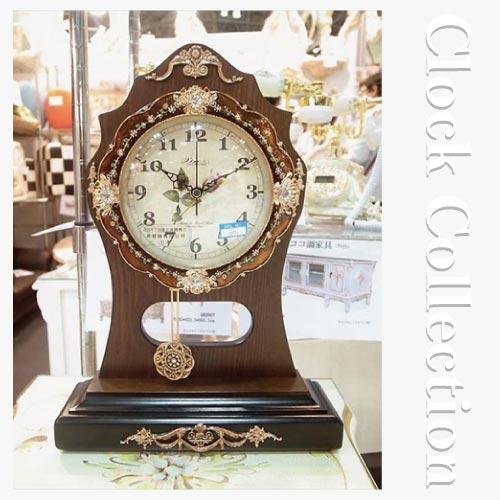 クラシック時計 クラシック置き時計(振り子付き)