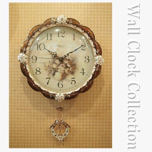 クラシック時計 クラシカルウッドクロック(ブラウン)