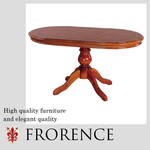 【家財便Eランク】 Saltarelli FLORENCE~ フローレンス~ダイニングテーブル(4本脚)