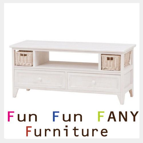 【送料無料】 FANY FURNITURE~ファニーファニチャー~ ホワイトテレビ台
