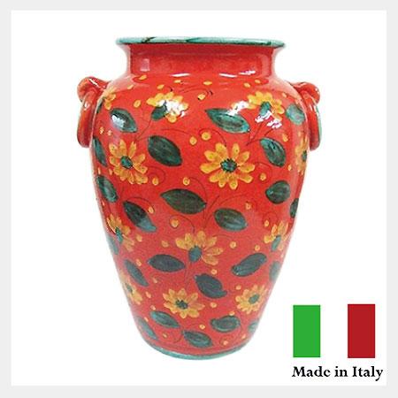 【送料無料】イタリア製 フラワー傘立(ツボ型)