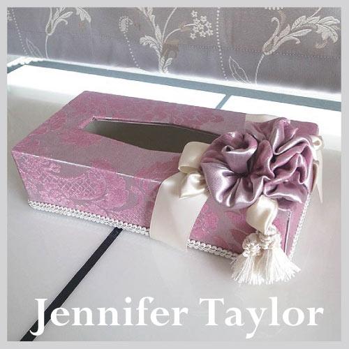 【ポイント5倍 5月】ジェニファーテイラー Jennifer Taylor ティッシュBOX・Lorraine-PK