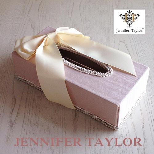 【ポイント5倍 5月】ジェニファーテイラー Jennifer Taylor ティッシュBOX・Chinon(PK)-Ribon