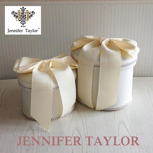 【ポイント5倍 5月】ジェニファーテイラー Jennifer Taylor オーバルBOX2PChinon(WH)・Ribon