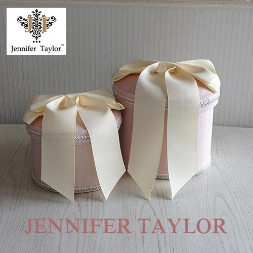 【ポイント5倍 5月】ジェニファーテイラー Jennifer Taylor オーバルBOX2PChinon(PK)・Ribon