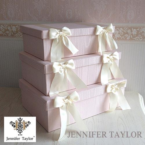 【ポイント5倍 5月】【送料無料】ジェニファーテイラー Jennifer Taylor BOX3Pセット・Chinon(PK)