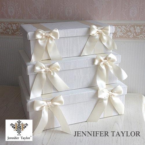 【ポイント5倍 5月】【送料無料】ジェニファーテイラー Jennifer Taylor BOX3Pセット・Chinon(WH)