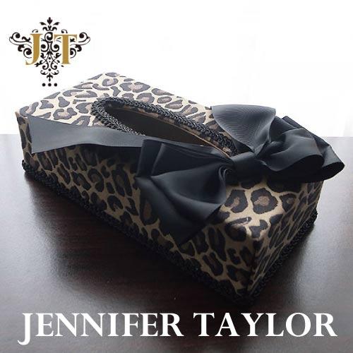 【ポイント5倍 5月】ジェニファーテイラー Jennifer Taylor ティッシュBOX・Espresso -Ribon