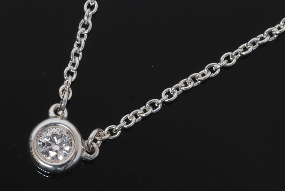ティファニー バイザヤード ネックレス ダイヤ SV925【未使用】