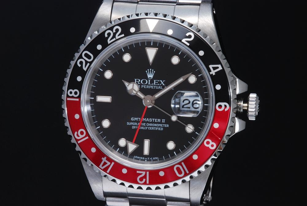 ロレックス 16710 GMTマスター2 赤黒ベゼル T番【OH済】