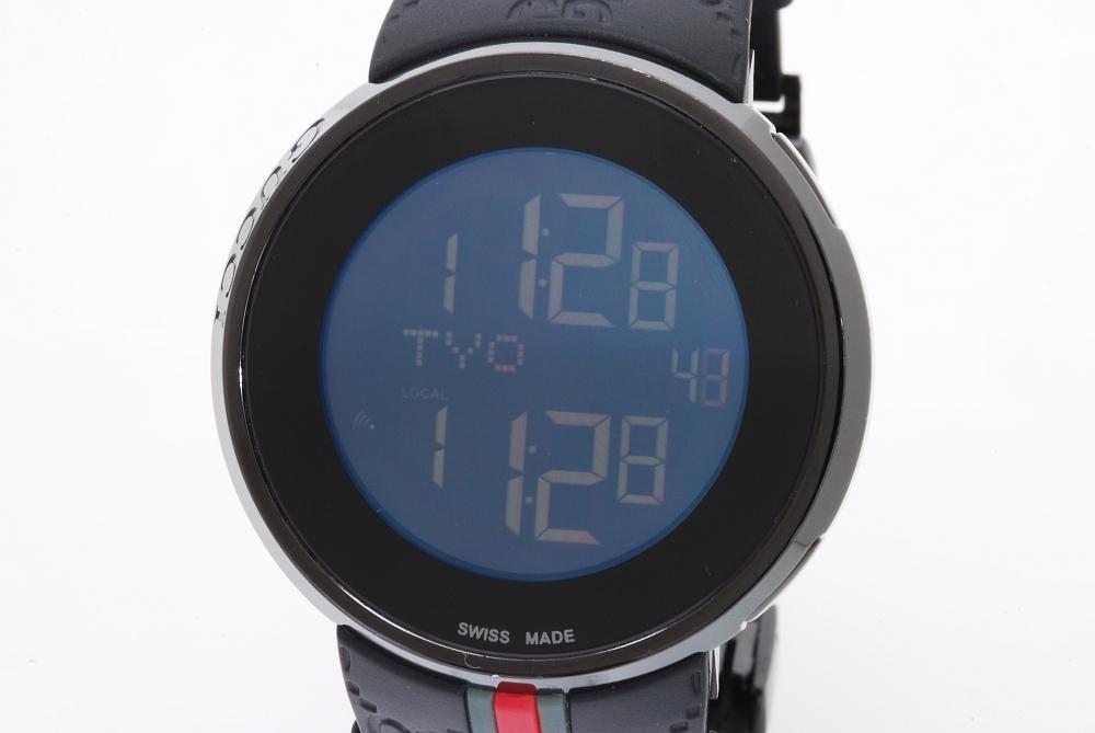 グッチ YA114207 アイグッチ デジタル ワールドタイム