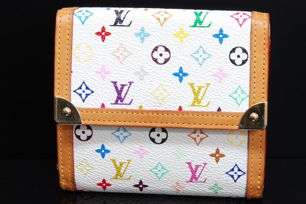 ヴィトン モノグラム マルチカラー Wホック財布 ブロン M92983