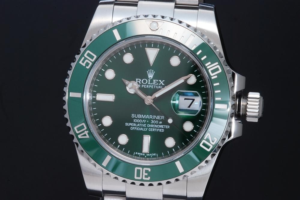ロレックス 116610LV グリーン サブマリーナデイト ランダム