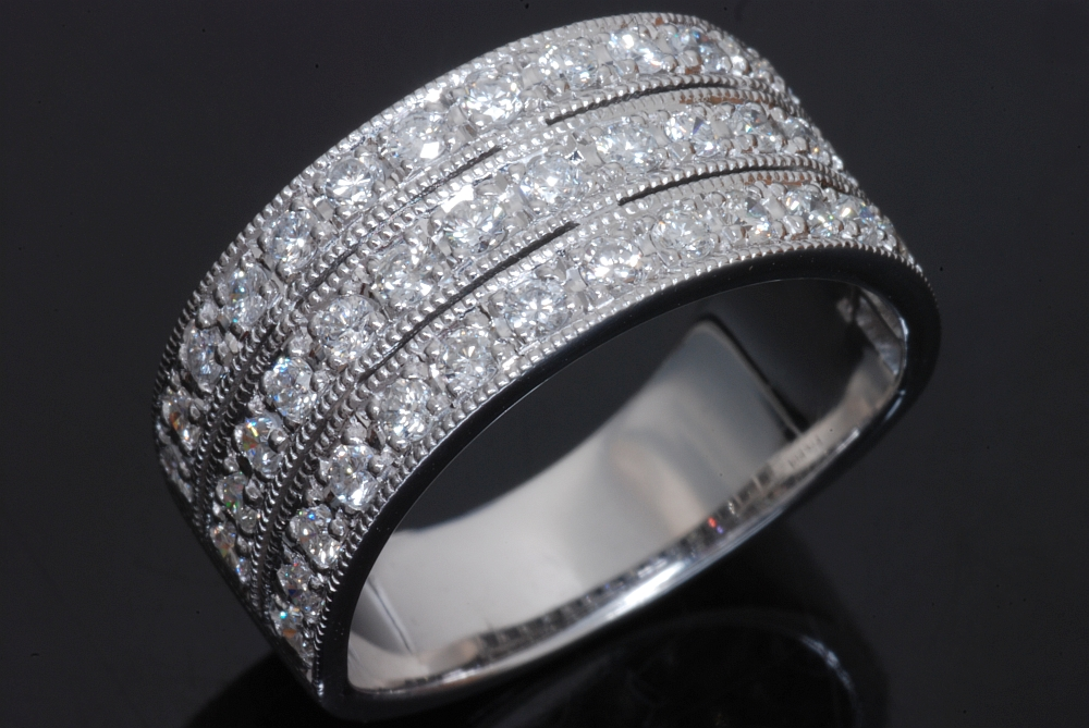 K18ホワイトゴールド ダイヤモンド 0.83ct 指輪 リング