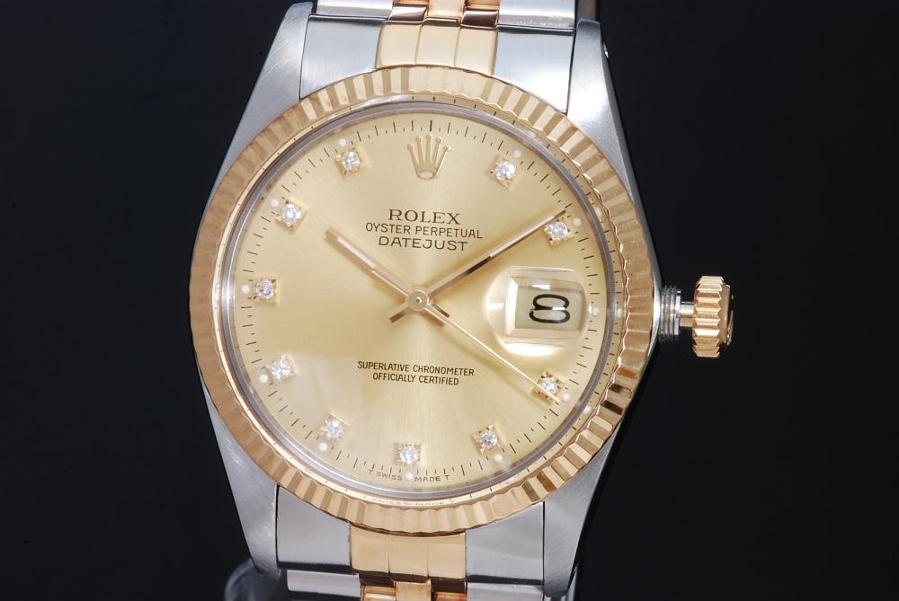 ロレックス 16013G デイトジャスト 10Pダイヤ メンズ 1987年