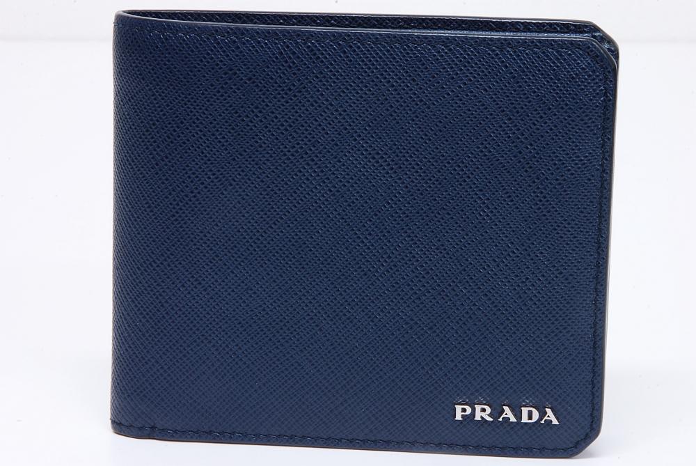 プラダ PRADAロゴ メンズ 二つ折り財布 2MO738 サフィアーノ