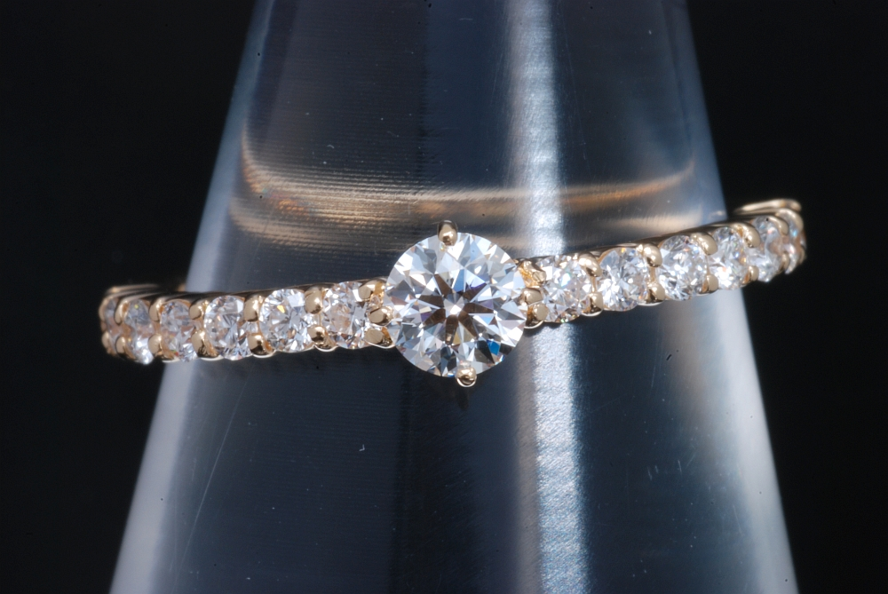 4℃ K18イエローゴールド ダイヤモンド0.207ct リング 指輪【美品】