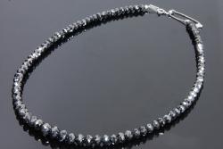 ブラックダイヤモンド ネックレス 100.00ct K18WG 【美品】