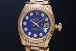 ロレックス 179178G デイトジャスト K18YG ラピス10Pダイヤ