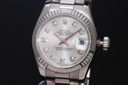 ロレックス 179179G デイトジャスト K18WG 10Pダイヤ