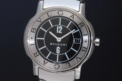 ブルガリ ソロテンポ ST35BSSD ST35S メンズ 黒文字盤
