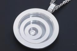 ショパール ハッピースピリット K18WG ダイヤ ペンダント【正規・美品】