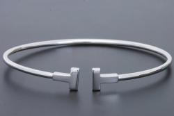ティファニー T ワイヤーブレスレット スモール K18WG Sサイズ