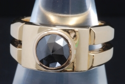 コアジュエルス K18YG ブラックダイヤモンド1.0ct リング 指輪