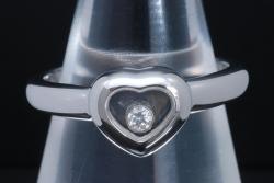 ショパール ハッピーダイヤモンド ハート リング K18WG ダイヤ 82/4854