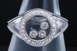ショパール ハッピーダイヤモンド リング K18WG 3Pダイヤ 82/3926