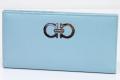 フェラガモ ガンチーニ ロゴ レザー 二つ折長財布 財布