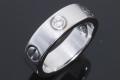 カルティエ ラブリング ハーフダイヤ K18WG #50 B4032500