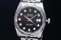 ロレックス 116234G デイトジャスト メンズ 10Pダイヤ 黒