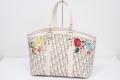 ディオール トロッター ヴィンテージフラワー Diorロゴ ハンドバッグ