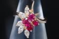 ショーメ CHAUMET K18YG ルビー ダイヤモンド リング 指輪