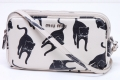 ミュウミュウ ショルダーポーチ ミニバッグ キャットプリント 猫柄 5ZH011【正規品】☆