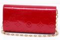 ヴィトン モノグラム ヴェルニ ポルトフォイユ サラ チェーン 二つ折り長財布 ポムダムール M90091