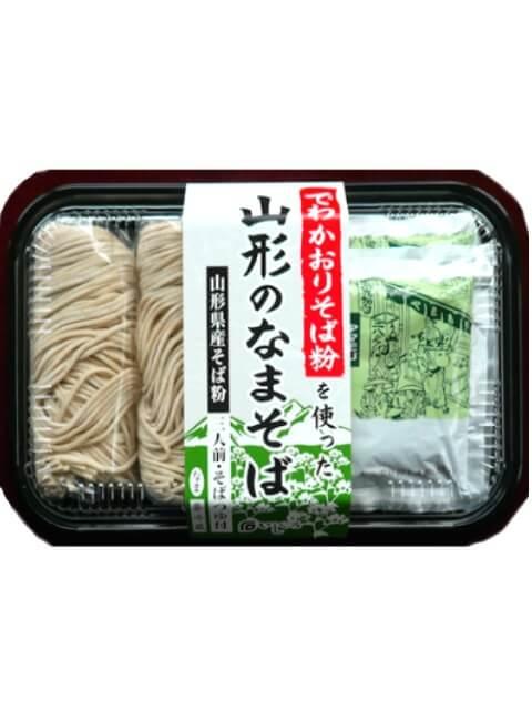 山形県産そば粉「でわかおり」使用 山形のなまそば 3食×2パック(計6食)【送料・税込み】