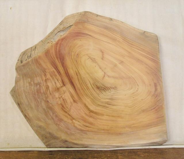 【送料・手数料無料】 山成林業 小型無垢一枚板 KD-394 ケヤキ 小型看板 ミニテーブルに最適