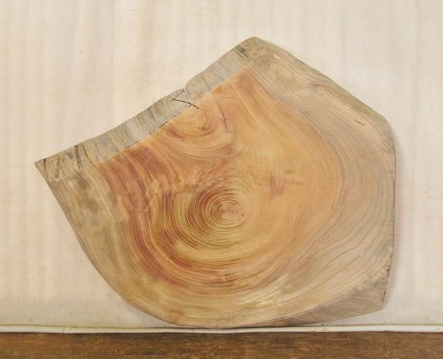 【送料・手数料無料】 山成林業 小型無垢一枚板 KD-396 ケヤキ 小型看板 花台に最適
