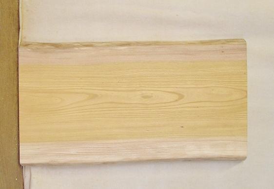 【送料・手数料無料】 山成林業 小型無垢一枚板 KD-419 ケヤキ 小型看板に最適