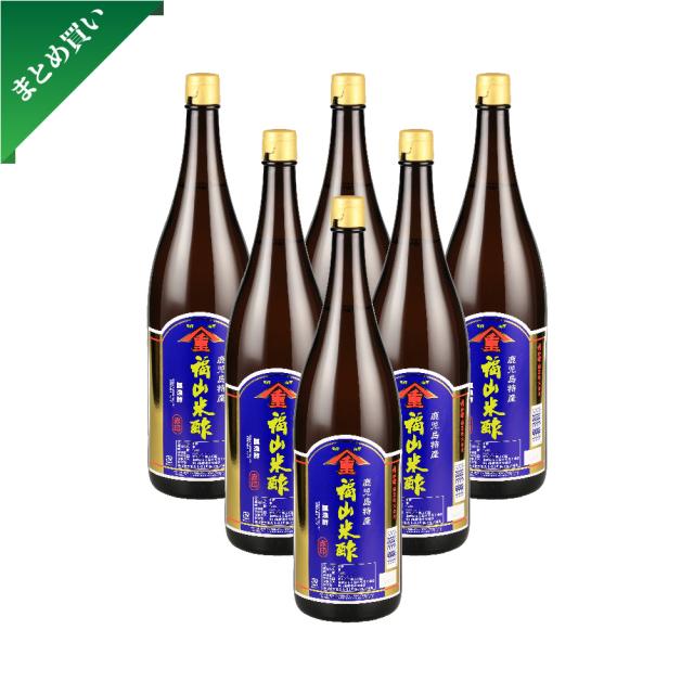 【まとめ買い】福山米酢 赤印 1800ml 6本セット