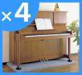 【お得な4枚セット!】「ピアノ防振ベース」 送料込み