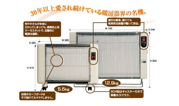 遠赤外線暖房器「サンラメラ」でぽっかぼか