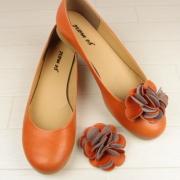y100022d 【日本製】2way美脚パンプス オレンジ