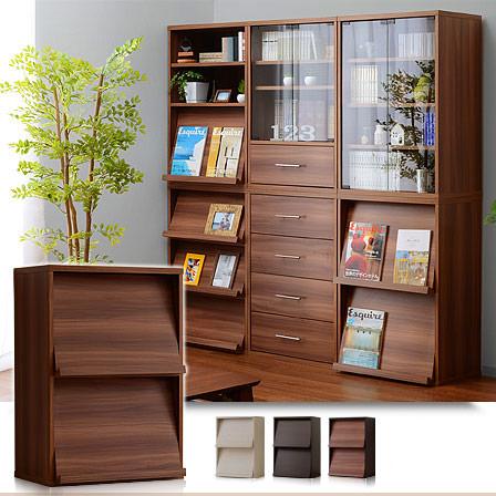 A4ファイル対応 ディスプレイラック 整理 本棚 書棚 キッズ 薄型