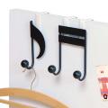 ペアドアハンガー 音符 2個セット 厚み約27〜36mmのドアに対応