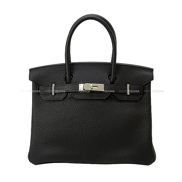 HERMES エルメス ハンドバッグ バーキン30 黒(ブラック) トリヨン シルバー金具 新品未使用